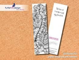 Design Bookmarks Flutterflies Design Bookmarks Garden Of Harmony