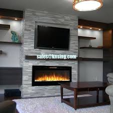 electric fireplace with stone insert electric fireplace heater full recessed fireplace if 13 flat panel crystal