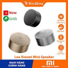 Loa bluetooth Xiaomi Mini Speaker kết nối không dây nhỏ gọn vỏ kim loại âm  thanh to bass ấm nghe nhạc lâu có móc treo
