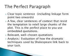 critical essay technique  respond to the task out simply  7  clear