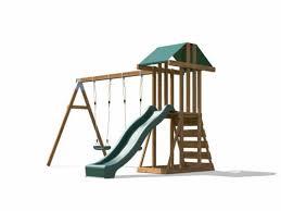 kids wooden climbing frame swing