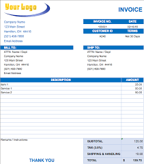 simple invoice templates printable free free excel invoice templates smartsheet