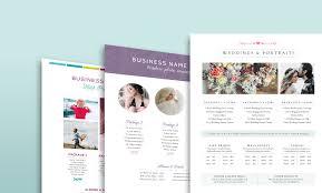 18 Photographer Price Sheets Free Download Photobiz Growth Hub