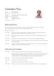Vitae Resume Template. Free Resume Templates Modern Curriculum Vitae ...