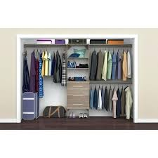 modern in closet organizer with shelves and 3 drawers systems