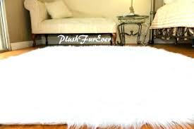 exotic animal fur rugs faux area bedroom rug sheepskin white lambskin large skin of