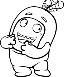Small Picture Oddbods Coloring Page Wecoloringpage
