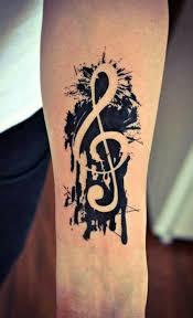 60 úžasné Hudební Tetování Vzory Punditschoolnet