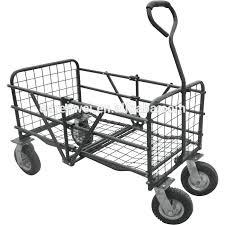 folding garden cart. Folding Garden Wagons Utility Cart 4 Wheel Mesh Small Buy . D