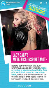 Lg Updates On Twitter Lady Gagas Moth Tattoo From The 2017