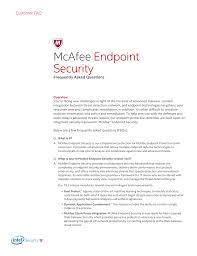 Mcafee Endpoint Security Faq Manualzz Com