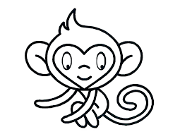 Cute Monkey Pictures To Color M8362 Cute Monkey Coloring Pages Free