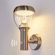 etta stainless steel sensor outdoor wall light led