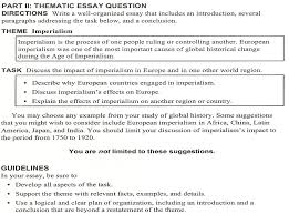 imperialism mr formato s global history website imperialism essay due monday thematic