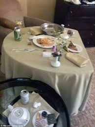 the last supper a photo of whitney s room at the beverly hills hilton showed the