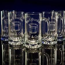 bulk personalized custom beer mugs engraved or etched glass glass mugs bulk