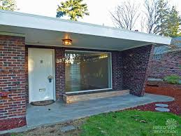 mid century modern front porch. 1955 Mid Century Modern House Time Capsule Just 1,300 S.f., But Within Porch Light Front Y