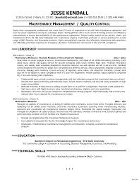 Great Facility Maintenance Supervisor Resume Sample Also Facility ...