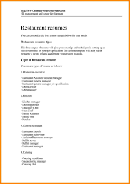 How To Make A Resume For A Restaurant Job Restaurant Resume Objectives Objective Cover How To Write A G Sevte 99