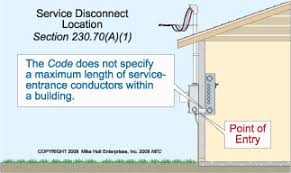 electrical services part 2 understanding requirements for the service disconnecting means must be placed at a readily accessible location nearest the point of service conductor entry