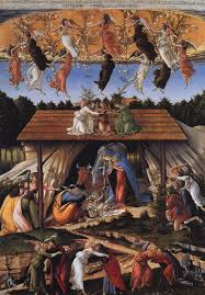 paintings reions botticelli sandro mystic nativity 1500