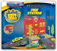 Игровой <b>набор Dave Toy</b> Пожарная станция с 1 машинкой ...