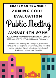 staff meeting flyer township zoning code update meeting set for aug 6 boardman