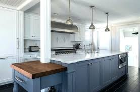 navy kitchen cabinets blue hale