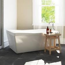 freestanding bath tub. ove decors morgan 60-in white acrylic freestanding bathtub with reversible drain bath tub