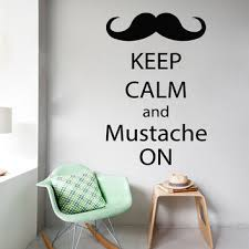 Delightful Words Wall Decals Phrase Keep Calm And Mustache On Quote Home Vinyl Decal  Sticker Kids Nursery