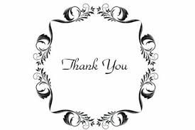 Printed Silk Borders Thank You Card Thank You Cards