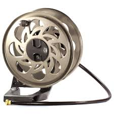 suncast sta125 side tracker wall mount hose reel with hose guide hover to zoom