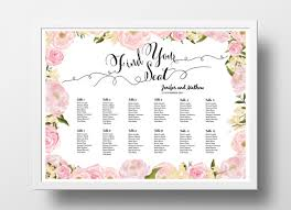 Wedding Seating Chart Poster Template Free Seating Chart Template