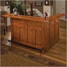 home bar furniture. Hillsdale Oak Large Bar With Side Home Furniture