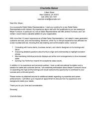 Retail Sales Executive Resume Best Rep Retail Sales Cover Letter Examples Livecareer Executive
