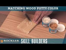 Minwax Putty Color Chart Matching Wood Putty Color Rockler Skill Builders Youtube