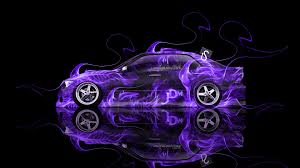 toyota altezza jdm fire abstract car
