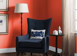 Orange Paint For Living Room Living Room In Orange Tiger Lily Living Rooms Rooms By Color