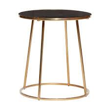 Tisch Metallmarmor Schwarzgold Hübsch