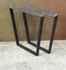 Metal table legs Taper set of 2 by DelSteel on Etsy