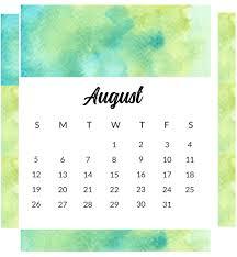 August Theme Calendar Best August 2018 Calendar Designs Latest Calendar
