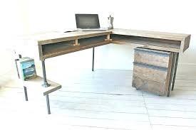 metal corner desk vintage office furniture image of l shaped walker edison glass computer walker corner desk glasetal