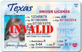 Invalid Texas Driving License While -