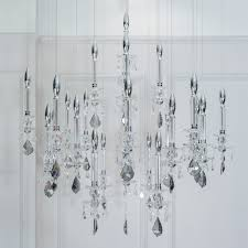 unique spotlight designer italian crystal chandelier with smokey drops