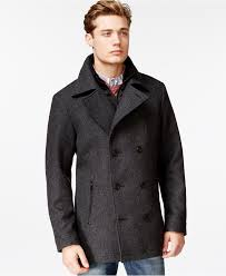 Mens Light Blue Peacoat American Rag Twill Peacoat Coats Jackets Men Macys