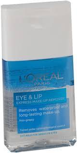 sminkbortning l oréal paris eye lip express make up remover 125 ml