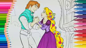 Disney Princess Rapunzel Tangled Coloring Page Little Hands