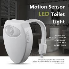 washroom lighting. 2018 USB LED Toilet Light Kids Children Baby Bathroom Nightlights RGB 8  Colors PIR Motion Sensor Washroom Lighting M