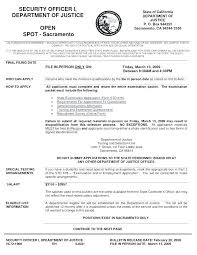 Sample Security Officer Resume Security Guard Resume Objective Sample Security Guard Resume