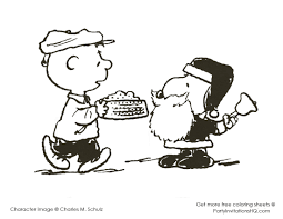 Small Picture Charlie Brown Christmas Tree Coloring Page With Snoopy Coloring